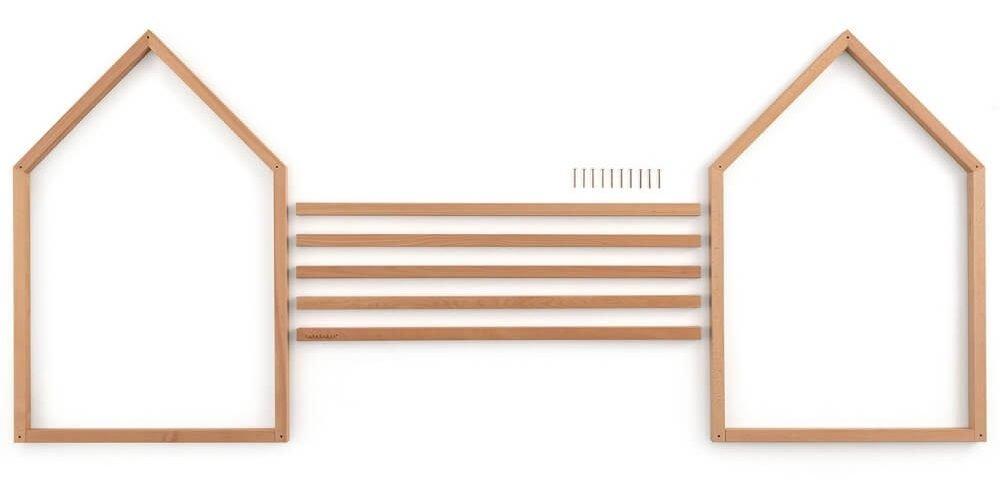 componenti lettino Montessori a forma di casetta, montaggio semplicissimo