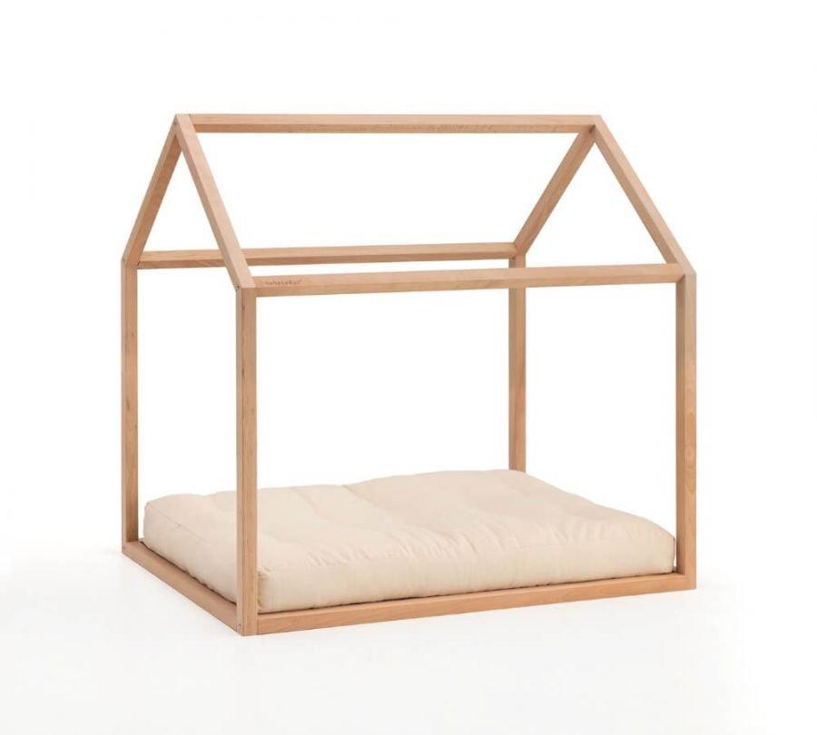 Lettino Montessori a casetta con materasso, Babylodge