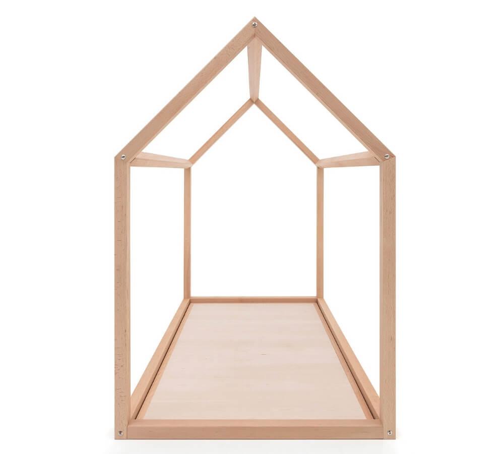 lettino Montessori a casetta in legno naturale, Babylodge