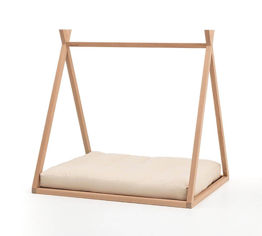 lettino a forma di capanna, lettino montessoriano, letto basso bambini