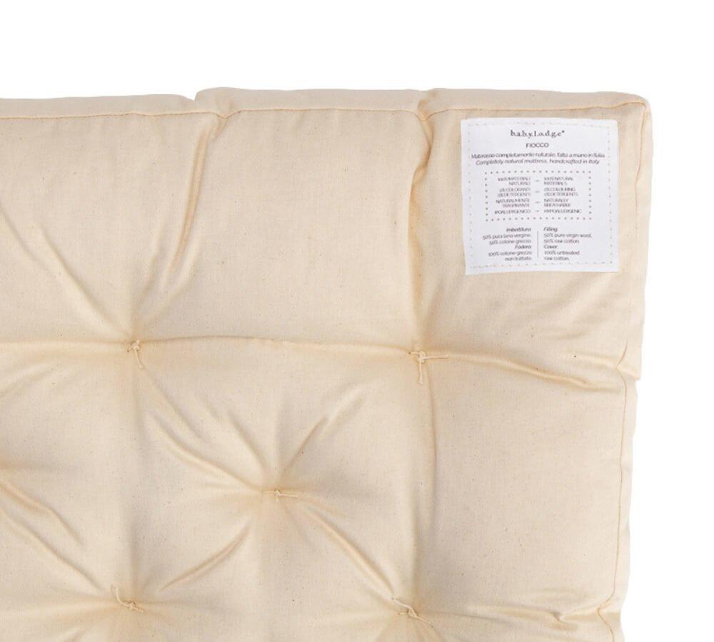 materasso naturale, materasso lettino