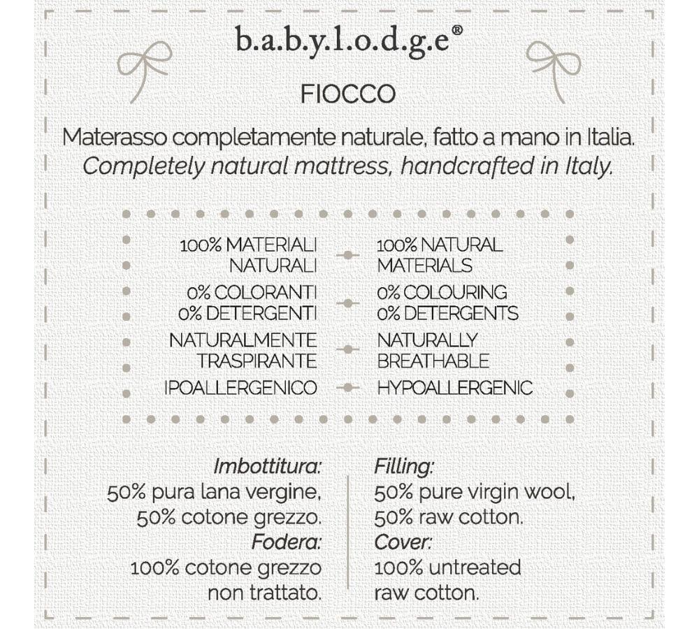 materasso naturale, materasso lettino, materasso bambini