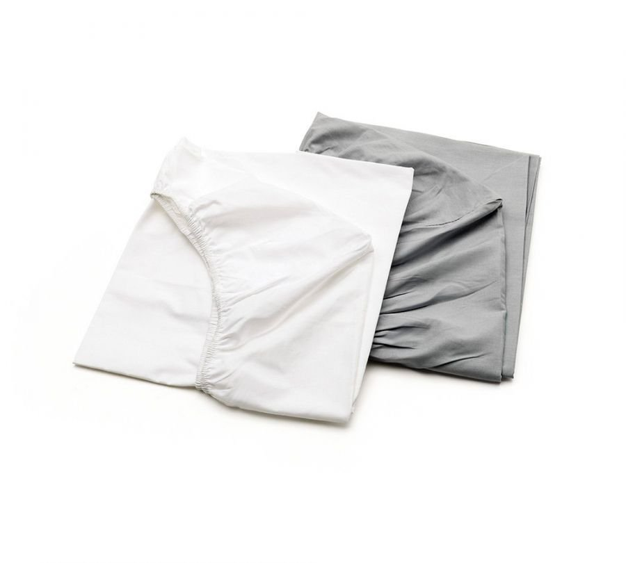 lenzuola lettino grigie, lenzuola per bambini, biancheria lettino grigia, babylodge