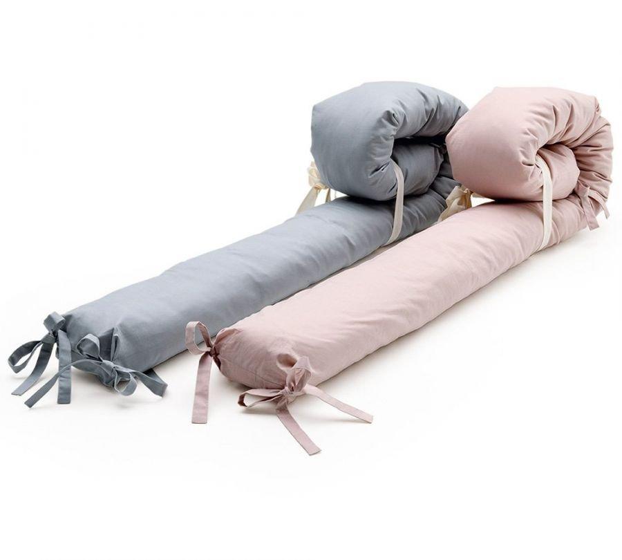 paracolpi per lettino Montessori in variante rosa e grigio