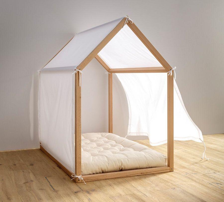 tenda lettino montessori a casetta, babylodge