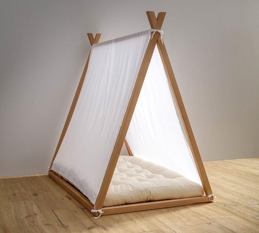 tenda lettino montessori a capanna, babylodge