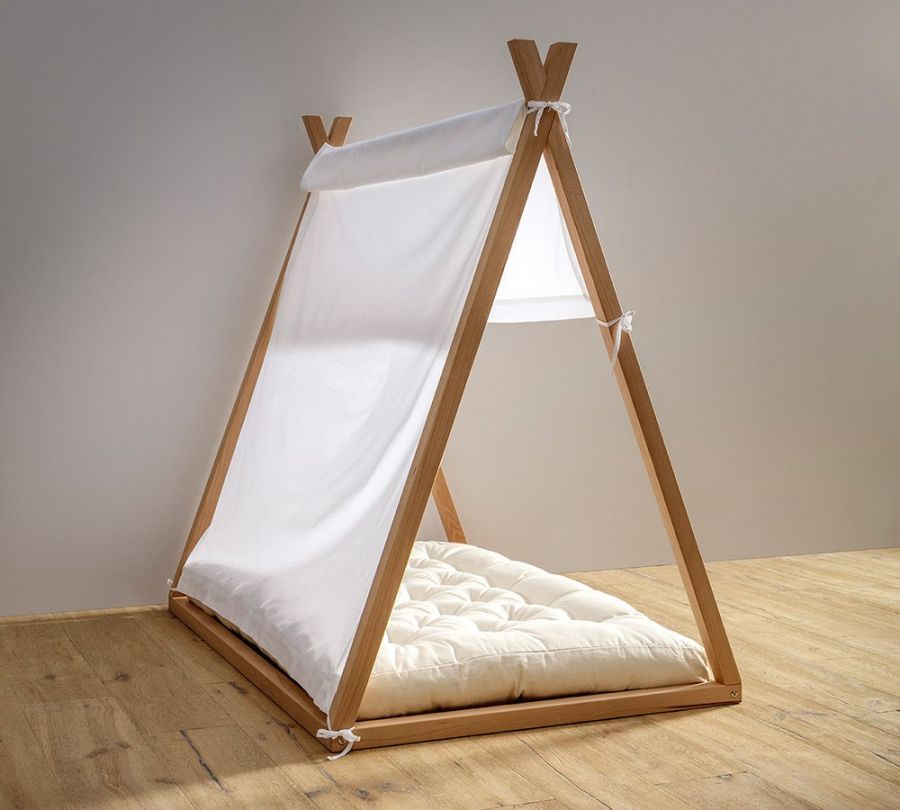 tenda per lettino montessori a capanna, tenda baldacchino bianca per lettino, babylodge