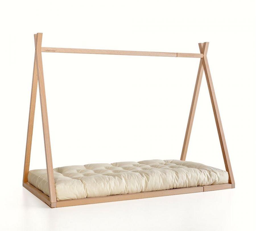 lettino montessori a capanna allungabile, letto estensibile, babylodge