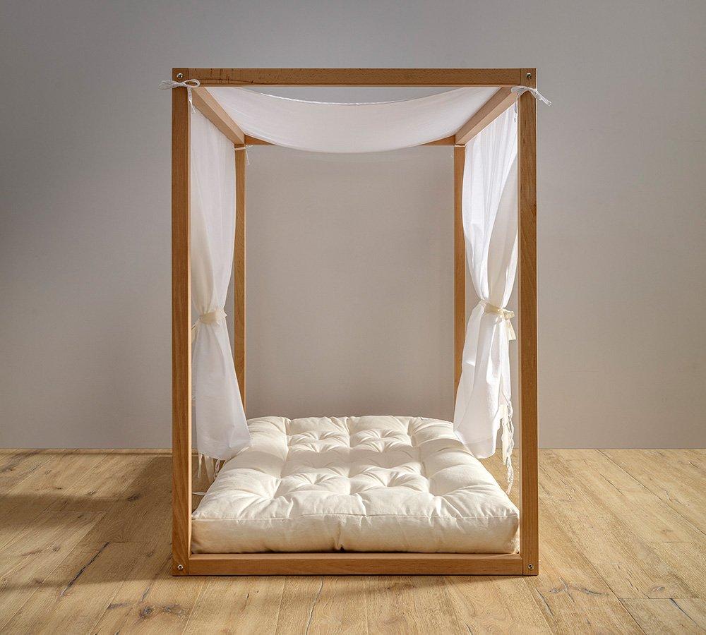 velo décor per lettino montessori a baldacchino, tenda per lettino, babylodge