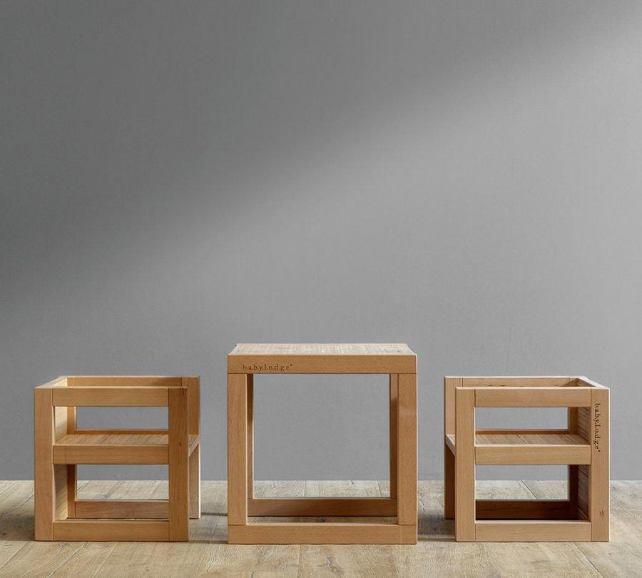 Tavolo e sedie Montessori di design per bambini babylodge