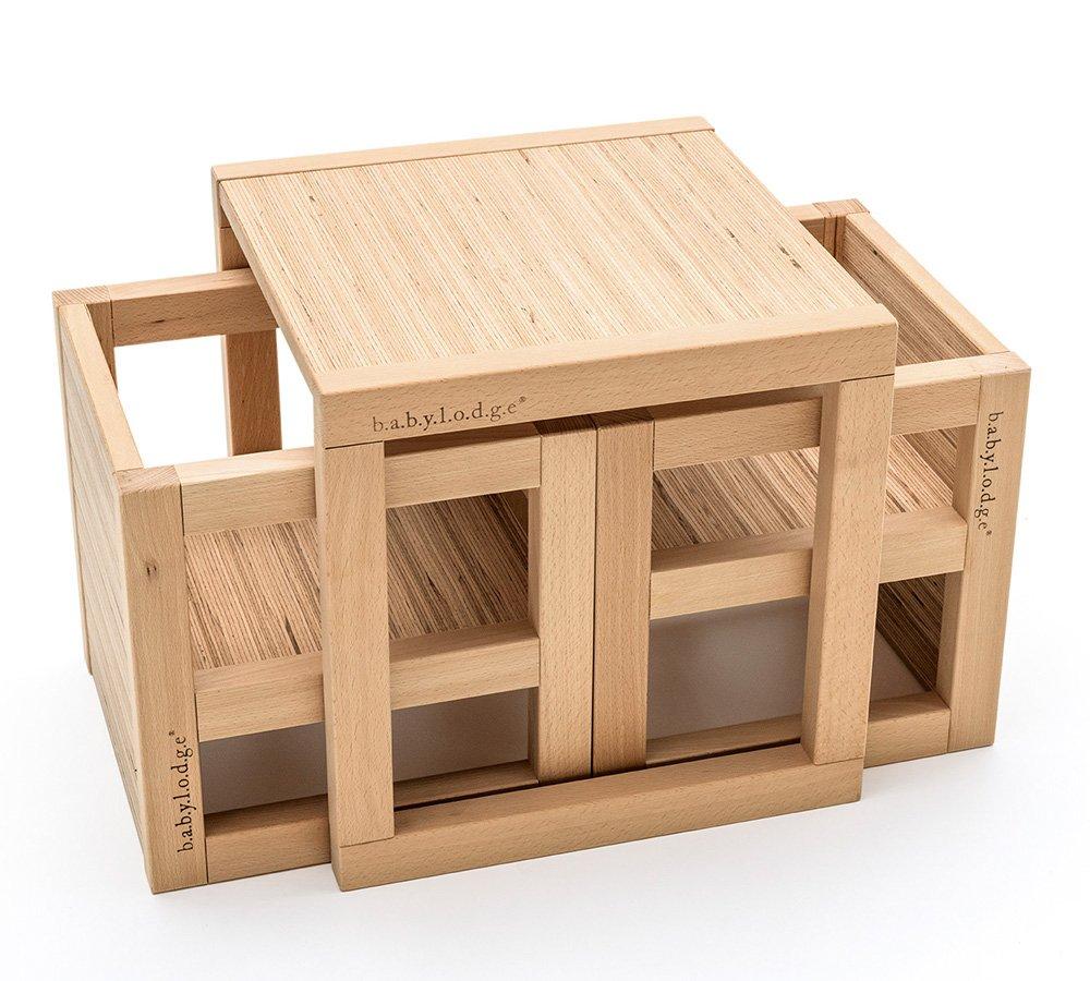 Tavolo e sedie Montessori per bambini in legno
