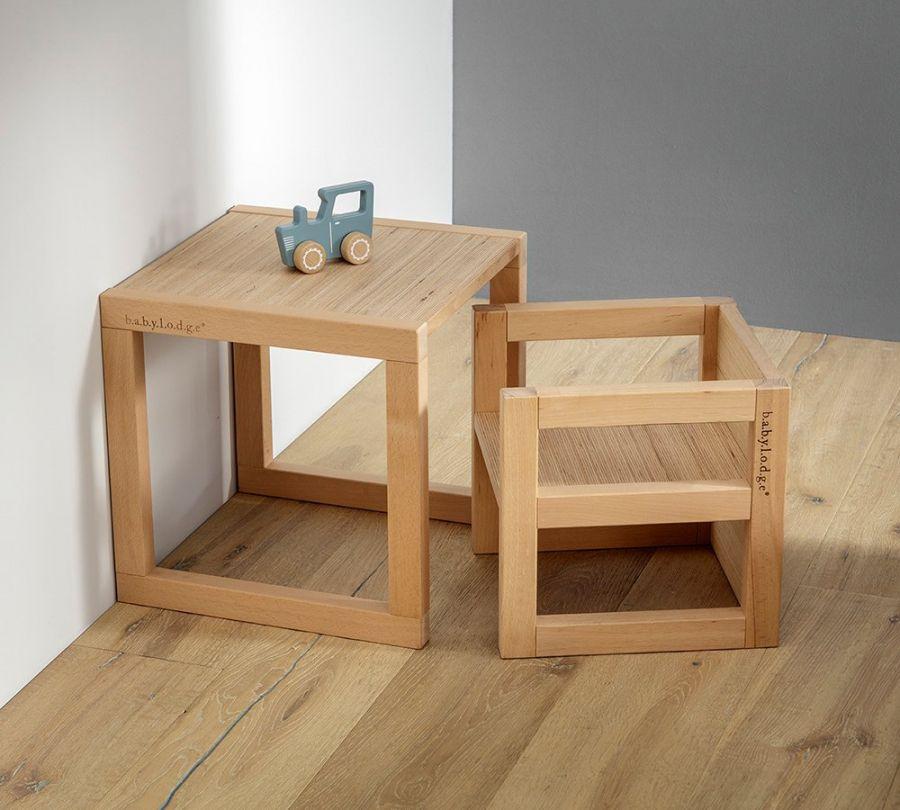 Tavolo Montessori per bambini in faggio massello, babylodge