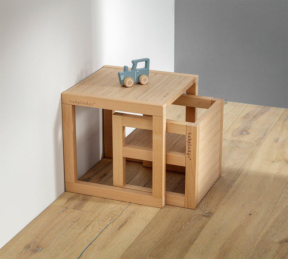 set tavolo e sedia per bambini in legno di faggio massello